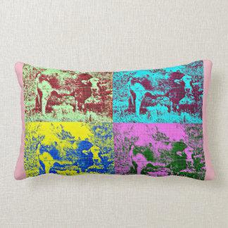 Cow in Pop Art Lumbar Pillow