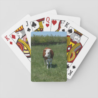 Cow In The Pasture Playing Cards