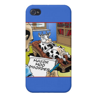 Cow In Therapy 4 Mooo Disorder Gifts Cards iPhone 4 Covers