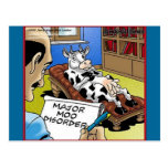 Cow In Therapy 4 Mooo Disorder Gifts Tees Cards Postcard