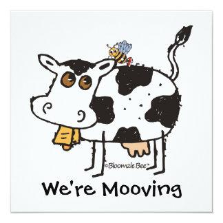 Cow 5.25x5.25 Square Paper Invitation Card