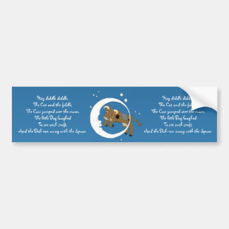 Cow Jumped Over the Moon Car Bumper Sticker
