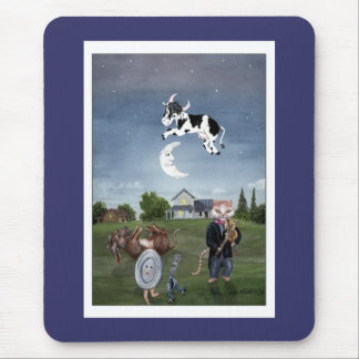 Cow Jumped Over the Moon Mouse Mat