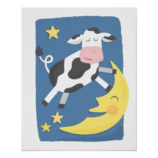 Cow Jumped Over the Moon Poster