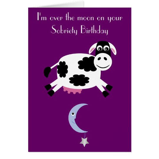 Cow Jumping Over The Moon Custom Purple Sobriety