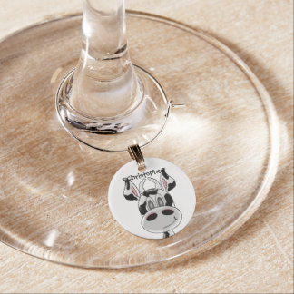 Cow Just Add Name Wine Glass Charms