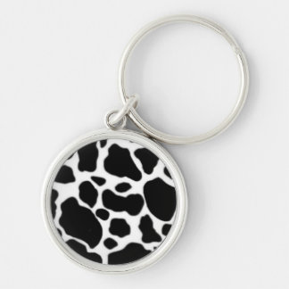 Cow key Silver-Colored round key ring