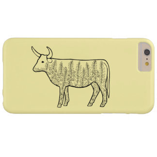 Cow Line Art Design Barely There iPhone 6 Plus Case