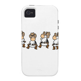 Cow Line dancin' Case-Mate iPhone 4 Covers