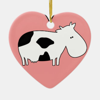 Cow Love Christmas Ornament