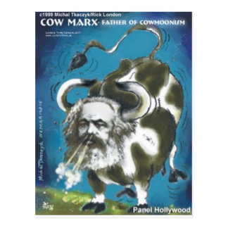 Cow Marx Funny Tees Cards Mugs & Gifts Postcard