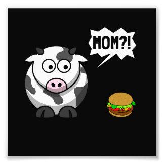 Cow Mom Photo Print