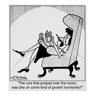 Cow, Moon & Growth Hormones Poster