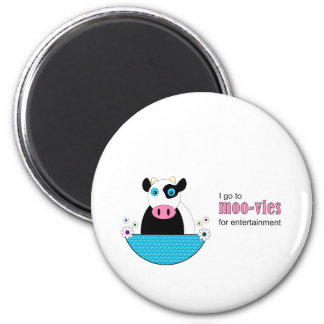 Cow Movies 6 Cm Round Magnet