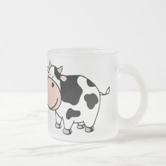 Cow Frosted Glass Mug