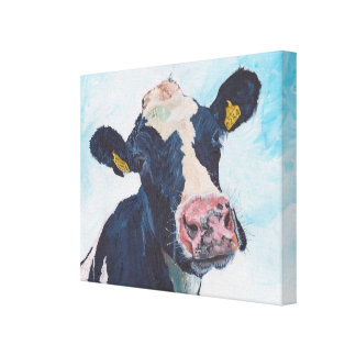 Cow No 01. 0254 Irish Friesian Cow Canvas Print