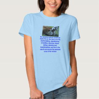cow, No sensitive person would eat flesh if he ... Tee Shirt