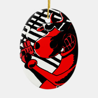 Cow Noir Christmas Ornament