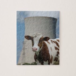 Cow & Nuclear Power Cooling Tower Jigsaw Puzzle