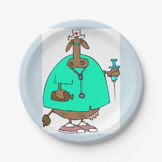 Cow Nurse Paper Plates