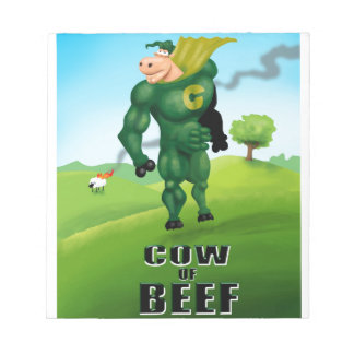 COW of BEEF! Notepad
