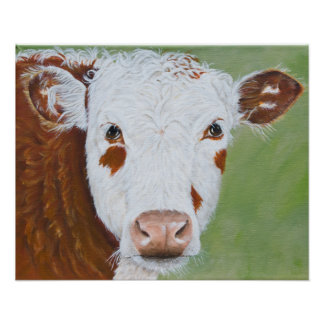Cow Painting 16 x 20 Poster