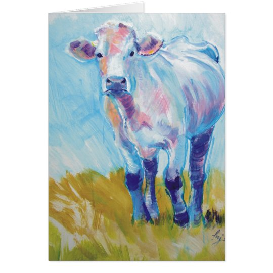 Cow Painting Card