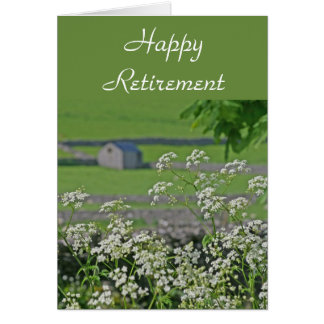 Cow parsley and stone barn card
