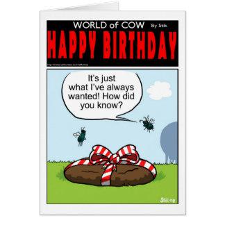 Cow Pat Pressie Card