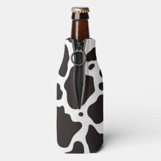 Cow pattern background bottle cooler
