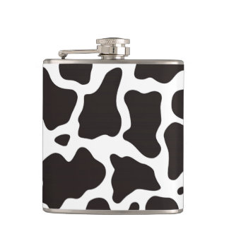 Cow pattern background flasks