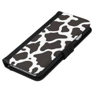 Cow pattern background iPhone 6 wallet case