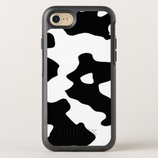 Cow Pattern Black and White OtterBox Symmetry iPhone 8/7 Case