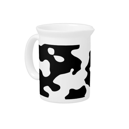 Cow Pattern Black and White Pitcher