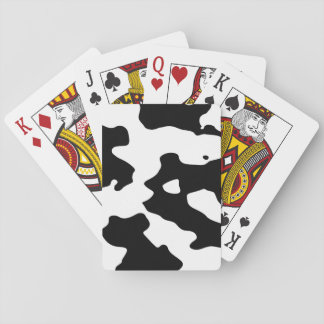 Cow Pattern Black and White Playing Cards