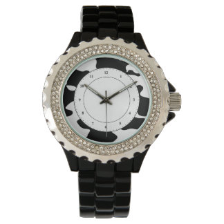 Cow Pattern Black and White Watch