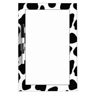 Cow pattern dry erase board