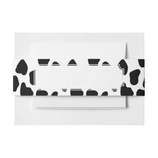 Cow pattern invitation belly band