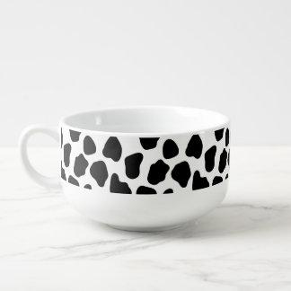 Cow pattern soup mug