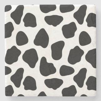 Cow pattern stone coaster
