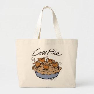 Cow Pie Jumbo Tote Tote Bags