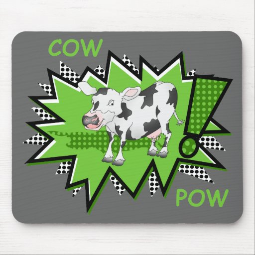 Cow Pow starburst Mousepad