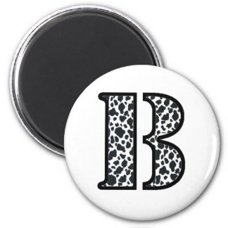 "Cow Print ""B"" gifts and products Fridge Magnets"