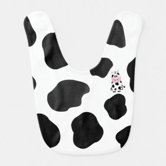 Cow Print Baby Bib with Cow