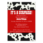Cow Print Baby Shower Card