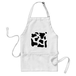Cow print black and white blotchy pattern standard apron