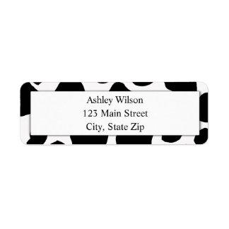 Cow Print Return Address Labels