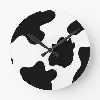 Cow Print Wall Clock