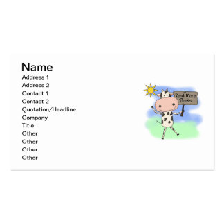 Cow Read More Books Pack Of Standard Business Cards