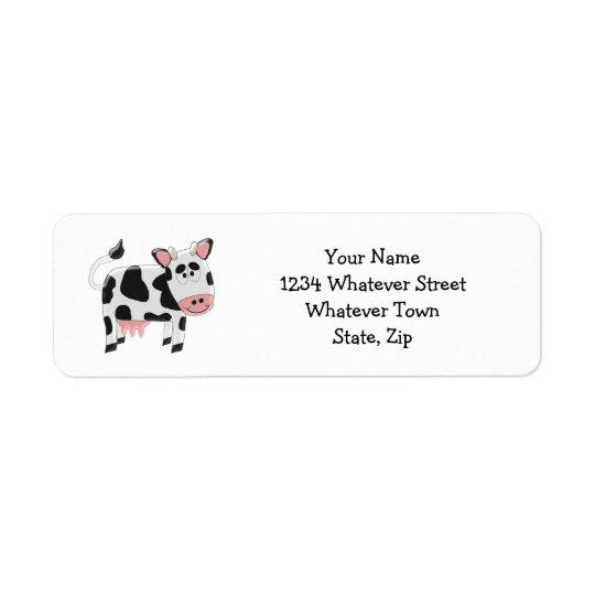 Cow Return Address Label